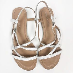 FRANCO SARTO l White Strappy Sandals Size 9.5